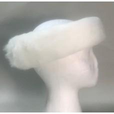 Ice Halo Faux Fur Rabbit head band - WHITE