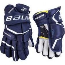 "Bauer Supreme 2S Gloves (Senior) 14"" Navy/White"