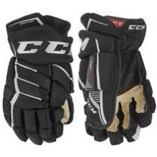 CCM Gloves - JETSPEED FT390 (Senior) Black/White