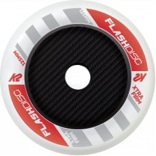 K2 Wheels 125mm Flashdisk White (1unit) without bearings