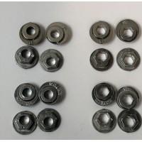 K2 Frame Spacers (16pk) Hexed - Aluminum