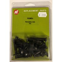 K2 Axle set 6mm hexed (9pk) Black