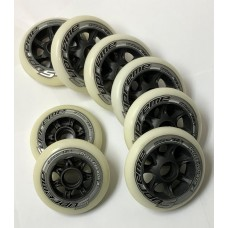 Rollerblade Wheels Supreme 6/100mm + 2/90mm 85A (8pk) Without Bearings