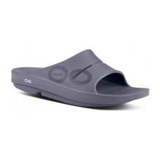 Oofos OOahh Sport Slide Sandal - Slate