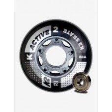 K2 Wheels 72mm Active (4pk) without bearings