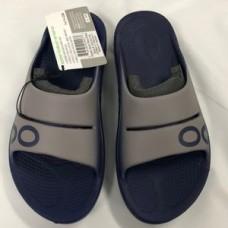 Oofos OOahh Sport Slide Sandal - Navy/Steel