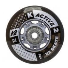 K2 Wheels 72mm Active (8pk) with bearings